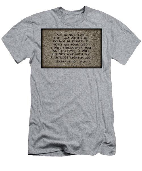 Isaiah 41 10 Men's T-Shirt (Athletic Fit)