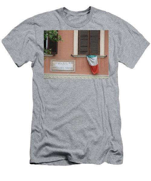 Italian Flag Men's T-Shirt (Athletic Fit)