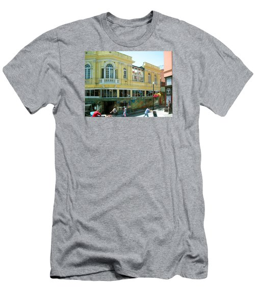 Italian Town In San Francisco Men's T-Shirt (Slim Fit) by Connie Fox