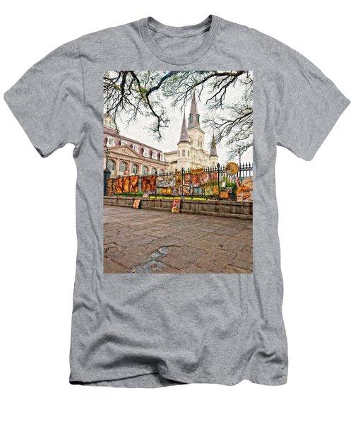 Jackson Square Winter Impasto Men's T-Shirt (Athletic Fit)