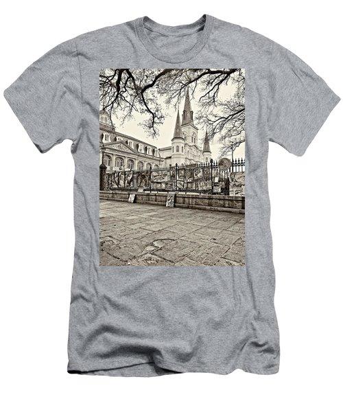 Jackson Square Winter Sepia Men's T-Shirt (Athletic Fit)