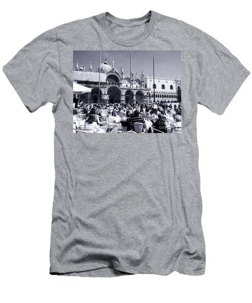 Jazz In Piazza San Marco Black And White  Men's T-Shirt (Athletic Fit)