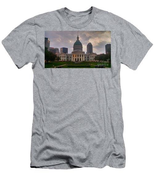 Men's T-Shirt (Slim Fit) featuring the photograph Jefferson Memorial Bldg by Chris Tarpening