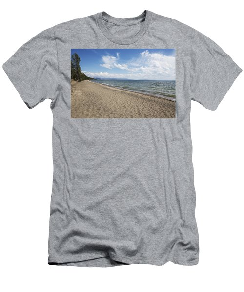 Men's T-Shirt (Slim Fit) featuring the photograph Yellowstone Lake by Belinda Greb