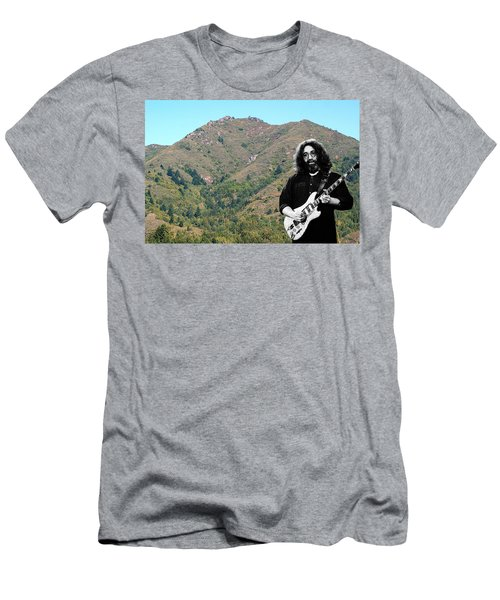 Jerry Garcia And Mount Tamalpais Men's T-Shirt (Athletic Fit)