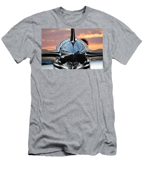 Airplane At Sunset Men's T-Shirt (Athletic Fit)