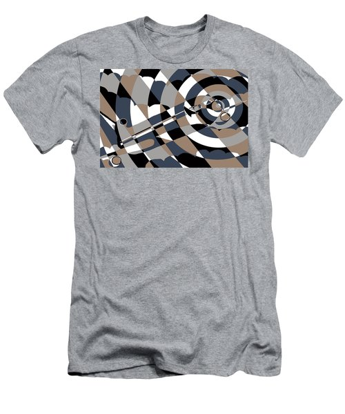 Jet In The Clouds Men's T-Shirt (Athletic Fit)