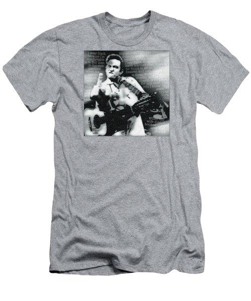 Johnny Cash Rebel Men's T-Shirt (Athletic Fit)
