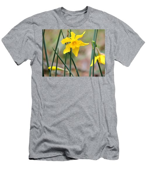 Men's T-Shirt (Slim Fit) featuring the photograph Johnny-jump-up by Kim Pate