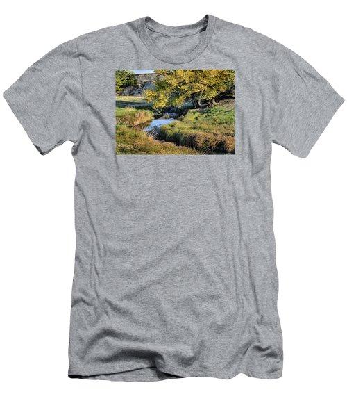 Jordan Creek Autumn Men's T-Shirt (Slim Fit) by Bruce Morrison