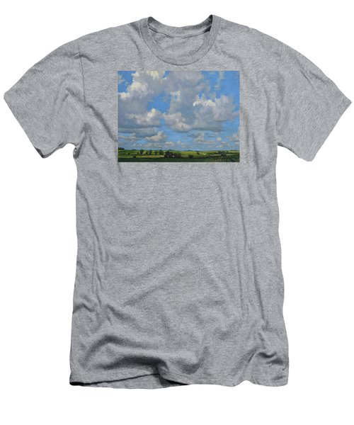 July In The Valley Men's T-Shirt (Slim Fit) by Bruce Morrison