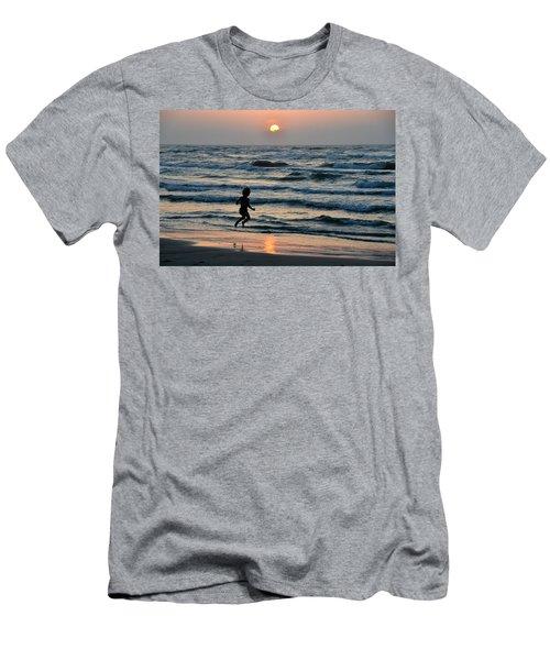Jumping For Joy Men's T-Shirt (Slim Fit) by Debra Martz