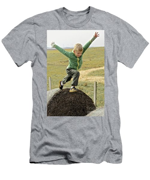 Jumping Haystacks Men's T-Shirt (Athletic Fit)