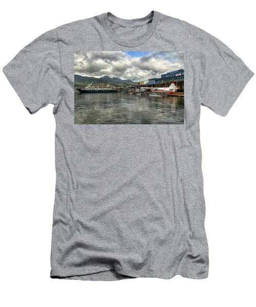 Juneau's Hangar On The Wharf Men's T-Shirt (Athletic Fit)