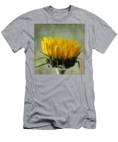 Just Opening Sunflower Men's T-Shirt (Athletic Fit)