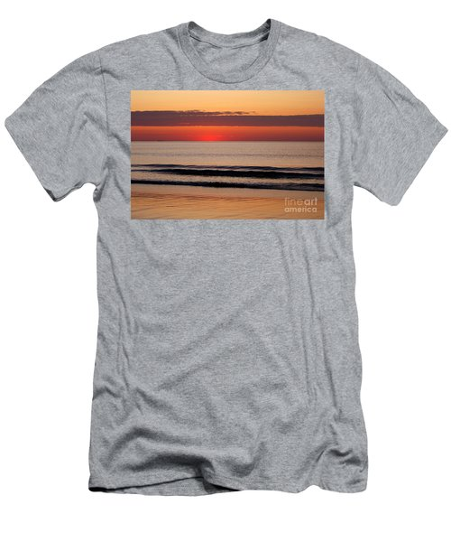 Just Showing Up Along Hampton Beach Men's T-Shirt (Slim Fit) by Eunice Miller