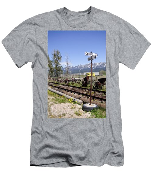 Kalispell Crossing Men's T-Shirt (Slim Fit) by Fran Riley