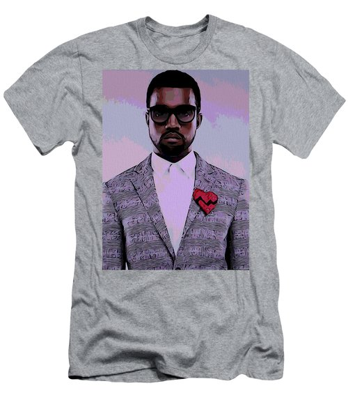 Kanye West Poster Men's T-Shirt (Slim Fit) by Dan Sproul