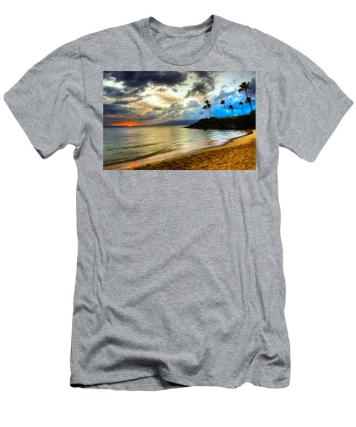 Kapalua Bay Sunset Men's T-Shirt (Slim Fit) by Kelly Wade