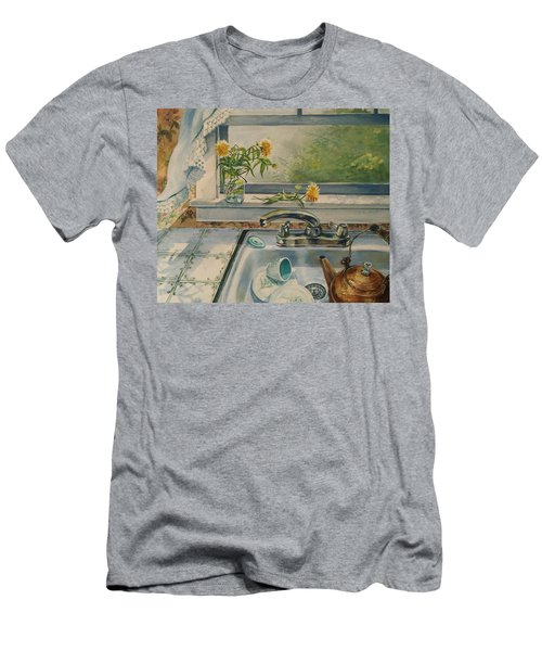 Men's T-Shirt (Slim Fit) featuring the painting Kitchen Sink by Joy Nichols