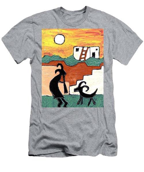 kokopeli at the Pueblo Men's T-Shirt (Athletic Fit)