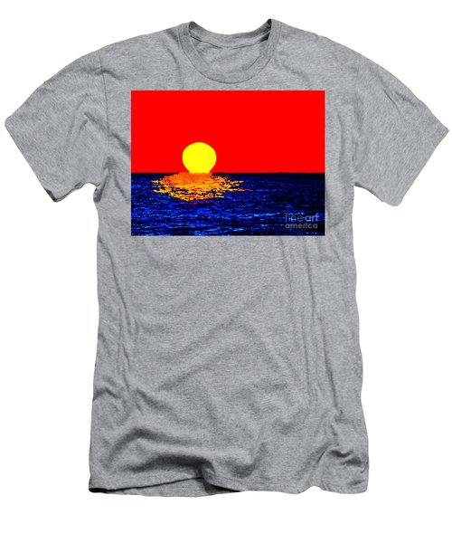Kona Sunset Pop Art Men's T-Shirt (Athletic Fit)