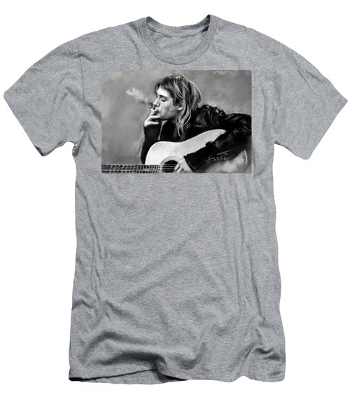 Kurt Cobain Guitar  Men's T-Shirt (Athletic Fit)