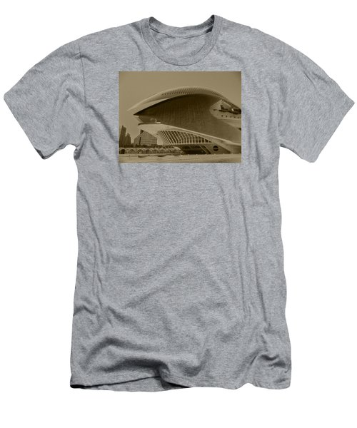 Men's T-Shirt (Slim Fit) featuring the photograph L' Hemisferic - Valencia by Juergen Weiss