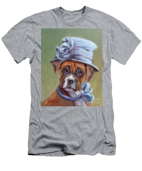 Lady Boxer With Blue Hat Men's T-Shirt (Athletic Fit)