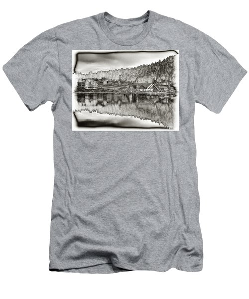 Lake House Reflection Men's T-Shirt (Athletic Fit)