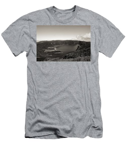 Lake In A Crater Men's T-Shirt (Athletic Fit)