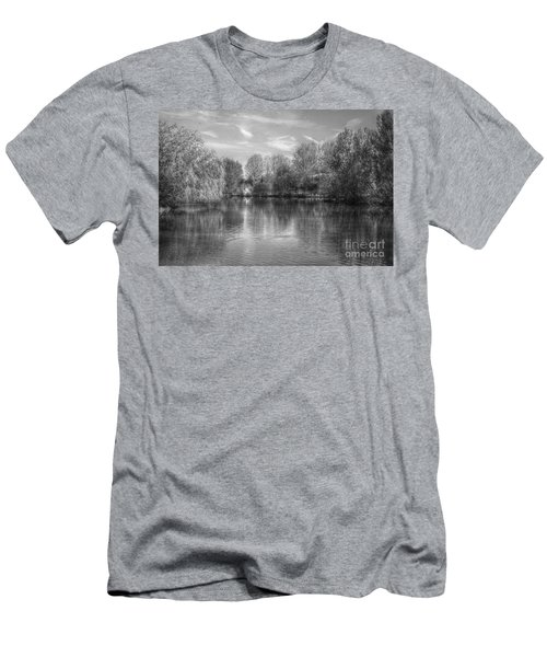 Lake Reflections Mono Men's T-Shirt (Athletic Fit)