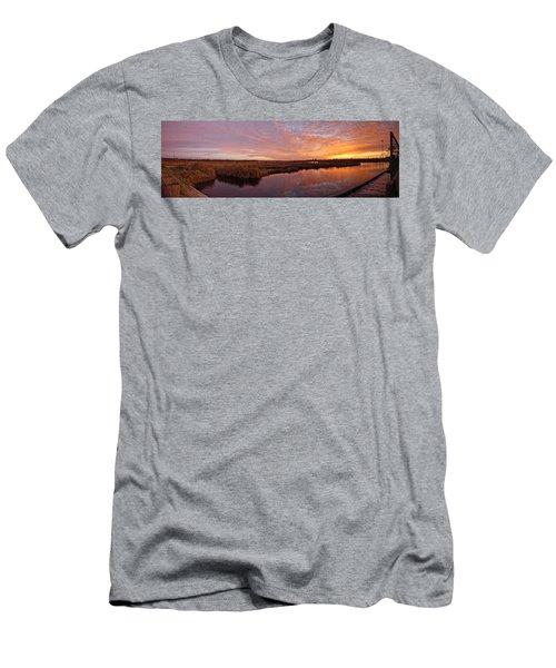 Lake Shelby Bridge Men's T-Shirt (Slim Fit) by Michael Thomas