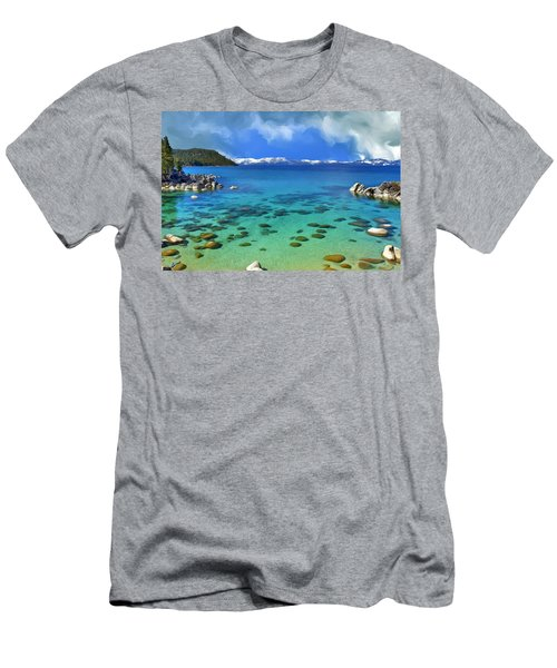 Lake Tahoe Cove Men's T-Shirt (Athletic Fit)