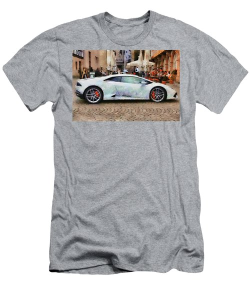 Lamborghini Huracane Lp 610-4 Parked In The City Men's T-Shirt (Athletic Fit)