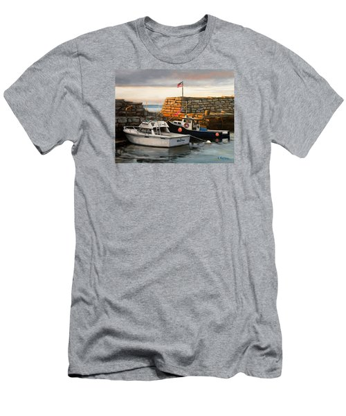 Lanes Cove Fishing Boats Men's T-Shirt (Athletic Fit)