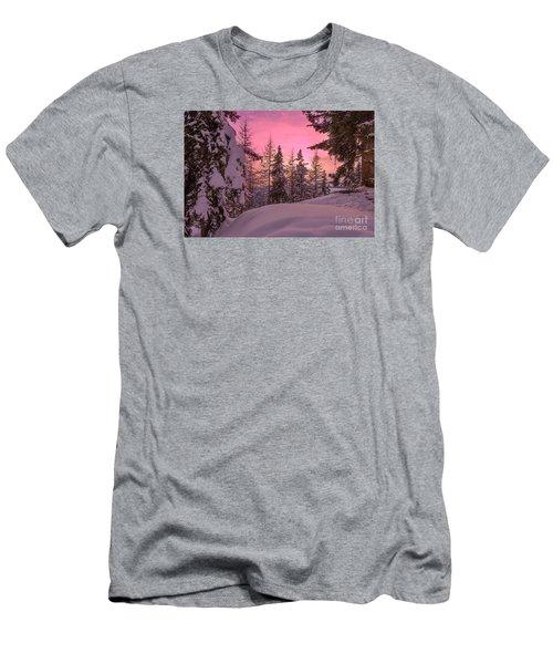 Lapland Sunset Men's T-Shirt (Slim Fit) by IPics Photography