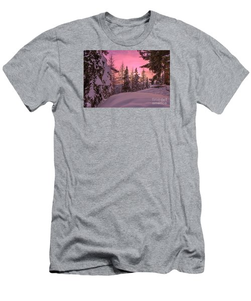 Lapland Sunset Men's T-Shirt (Athletic Fit)