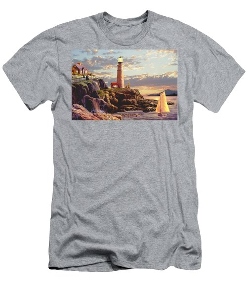 Last Light  Men's T-Shirt (Slim Fit) by Ron Chambers