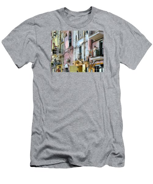 Laundry Day In Procida Men's T-Shirt (Slim Fit) by Jennie Breeze