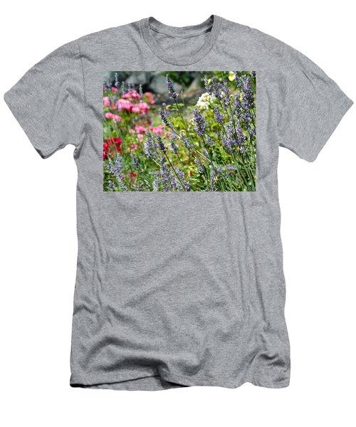 Lavender In Bloom Men's T-Shirt (Athletic Fit)