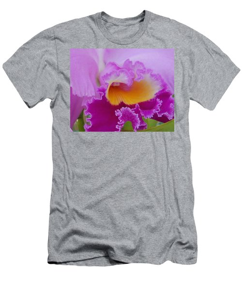 Men's T-Shirt (Slim Fit) featuring the photograph Lavender Orchid by Aimee L Maher Photography and Art Visit ALMGallerydotcom