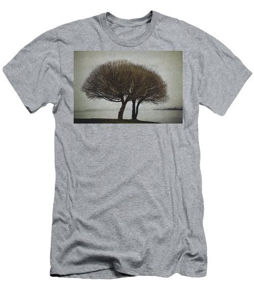 Men's T-Shirt (Slim Fit) featuring the photograph Leafless Couple by Ari Salmela