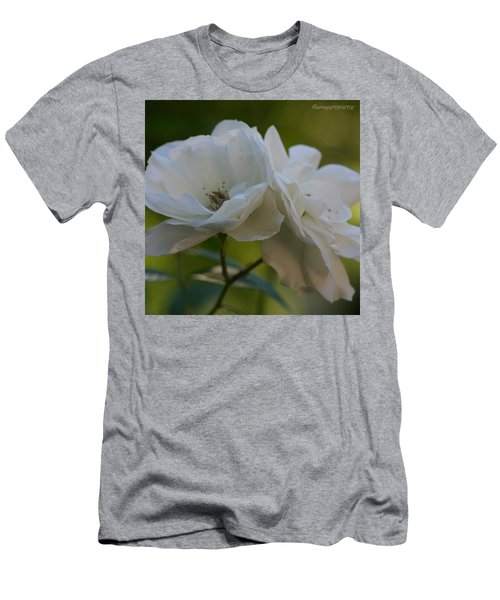 Lean On Me White Roses In Anna's Gardens Men's T-Shirt (Athletic Fit)