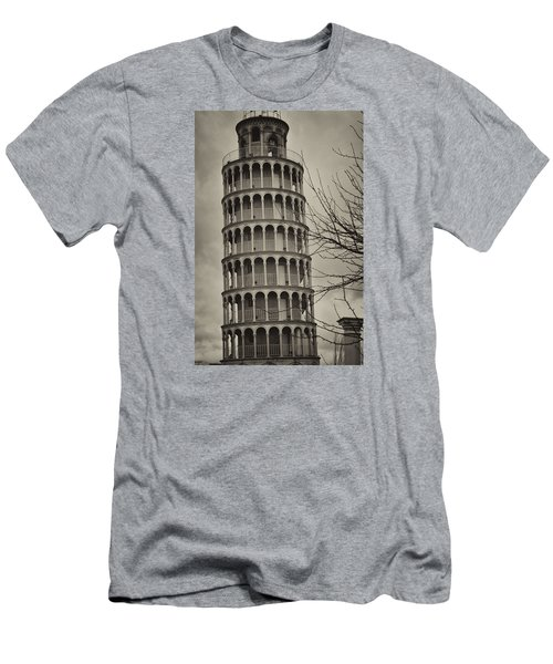 Leaning Tower Men's T-Shirt (Slim Fit) by Miguel Winterpacht