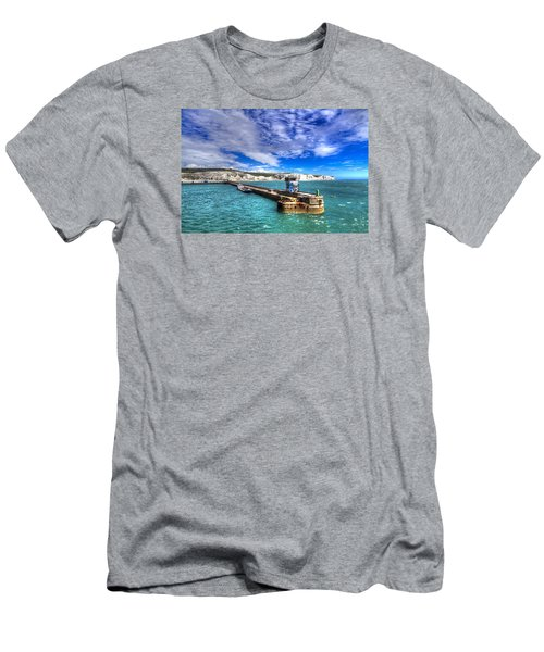 Men's T-Shirt (Slim Fit) featuring the photograph Leaving The Port Of Dover by Tim Stanley