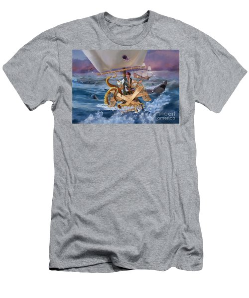 Men's T-Shirt (Slim Fit) featuring the painting Legendary Pirate by Rob Corsetti