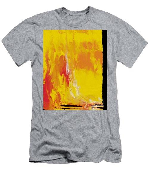 Lemon Yellow Sun Men's T-Shirt (Athletic Fit)
