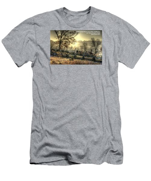 Let The Morning Bring Me Word Of Your Unfailing Love - Psalm 143.8 Men's T-Shirt (Slim Fit) by Michael Mazaika