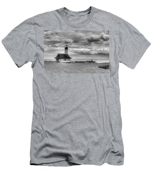 Leuty Lifeguard Station Men's T-Shirt (Athletic Fit)